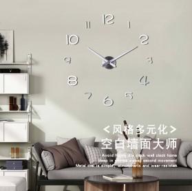 EMOYO Jam Dinding Besar DIY Giant Wall Clock Model Simple 60 CM - DIY-201 - Silver - 4