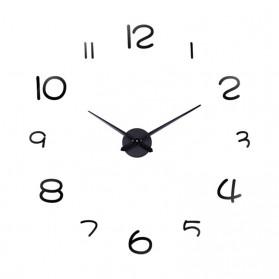 EMOYO Jam Dinding Besar DIY Giant Wall Clock Model Simple 60 CM - DIY-201 - Silver - 5