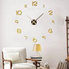 EMOYO Jam Dinding Besar DIY Giant Wall Clock Model Simple 60 CM - DIY-201 - Silver - 6