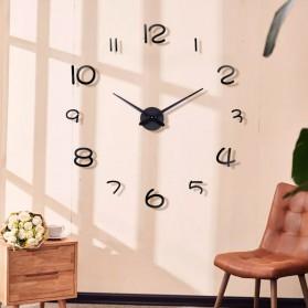 EMOYO Jam Dinding Besar DIY Giant Wall Clock Model Simple 60 CM - DIY-201 - Silver - 7