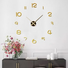 EMOYO Jam Dinding Besar DIY Giant Wall Clock Model Simple 60 CM - DIY-201 - Silver - 8