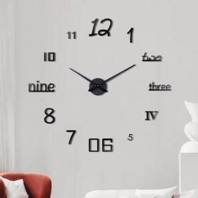 EMOYO Jam Dinding Besar DIY Giant Wall Clock Model Numeral 60 CM - DIY-201 - Black