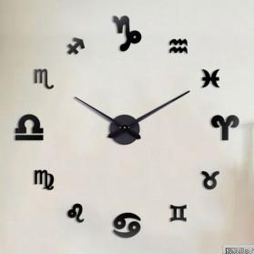 EMOYO Jam Dinding Besar DIY Giant Wall Clock Model Constellation 60 CM - DIY-201 - Black