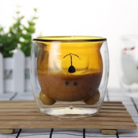 LETUZI Cangkir Kopi Anti Panas Double-Wall Borosilicate Glass Cute Animal 250ml - Transparent - 5