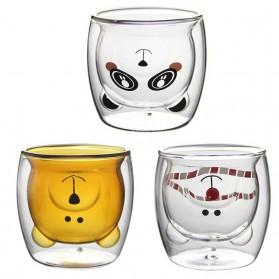 LETUZI Cangkir Kopi Anti Panas Double-Wall Borosilicate Glass Cute Animal 250ml - Transparent - 6