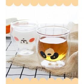 LETUZI Cangkir Kopi Anti Panas Double-Wall Borosilicate Glass Cute Animal 250ml - Transparent - 8