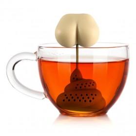 BalmyDays Saringan Teh Tea Filter Infuser Herb Spice Filter Strainer Model Poop - K523 - Transparent