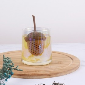 BalmyDays Saringan Teh Tea Filter Infuser Herb Spice Filter Strainer Model Walnut - K523 - Transparent