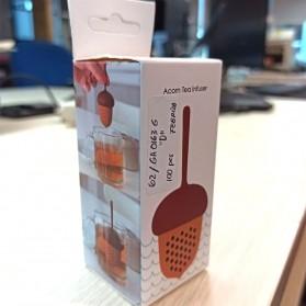 BalmyDays Saringan Teh Tea Filter Infuser Herb Spice Filter Strainer Model Walnut - K523 - Transparent - 4
