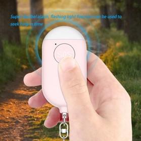 Mixsight Alarm Perlindungan Diri Gantungan Kunci Super Loud Self Defense 130dB - B300 - Pink