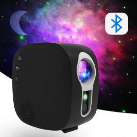 Newstyle Lampu Proyektor Tidur Cahaya Bintang Galaxy Light Starry Sky with Bluetooth Speaker - GX-334 - Black