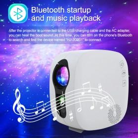 Newstyle Lampu Proyektor Tidur Cahaya Bintang Galaxy Light Starry Sky with Bluetooth Speaker - GX-334 - Black - 3
