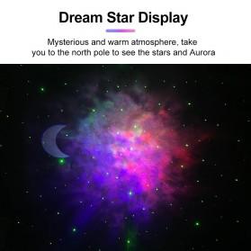 Newstyle Lampu Proyektor Tidur Cahaya Bintang Galaxy Light Starry Sky with Bluetooth Speaker - GX-334 - Black - 6