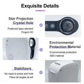 Newstyle Lampu Proyektor Tidur Cahaya Bintang Galaxy Light Starry Sky with Bluetooth Speaker - GX-334 - Black - 8