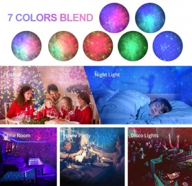 Newstyle Lampu Proyektor Tidur Cahaya Bintang Galaxy Light Starry Sky with Bluetooth Speaker - GX-334 - Black - 9