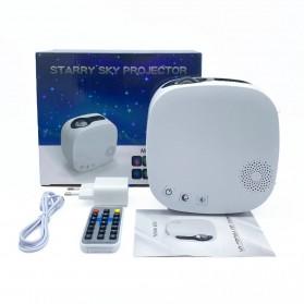 Newstyle Lampu Proyektor Tidur Cahaya Bintang Galaxy Light Starry Sky with Bluetooth Speaker - GX-334 - Black - 11