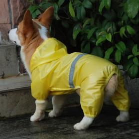 HAND-IN Pakaian Jas Hujan Anjing Reflective Pet Raincoat Size M - JH01 - Yellow