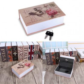 HOMESAFE Kotak Buku Novel Safety Box Hidden Storage - DHZ004 - Rose