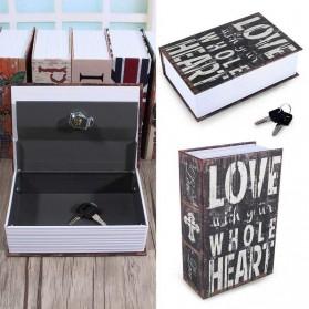 HOMESAFE Kotak Buku Novel Safety Box Hidden Storage - DHZ004 - Brown