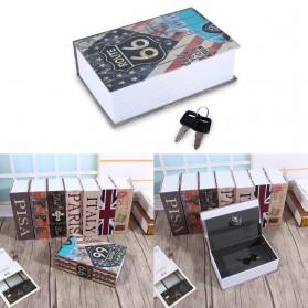 Kotak Perkakas & Toolbox - HOMESAFE Kotak Buku Novel Safety Box Hidden Storage - DHZ004 - Blue