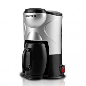 HOMEZEST Mesin Kopi Automatic Espresso Coffe Maker With Mug - CM-801 - Black/Silver