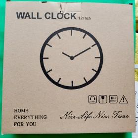 Ainivia Jam Dinding Quartz Creative Design Model Kitchen Hardware Clock 30CM - KK907 - Black - 5