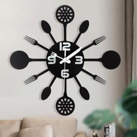 Ainivia Jam Dinding Quartz Creative Design Model Kitchen Hardware Clock 30CM - KK907 - Black - 2