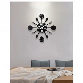 Ainivia Jam Dinding Quartz Creative Design Model Kitchen Hardware Clock 30CM - KK907 - Black - 3