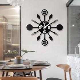 Ainivia Jam Dinding Quartz Creative Design Model Kitchen Hardware Clock 30CM - KK907 - Black - 4