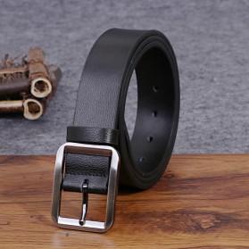 COLLERIE Tali Ikat Pinggang Pria Leather Belt Bahan Kulit - ZD096 - Black