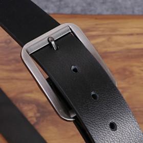 COLLERIE Tali Ikat Pinggang Pria Leather Belt Bahan Kulit - ZD096 - Black - 2