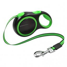 Lemari Pakaian - Holapet Tali Anjing Automatic Retractable Dog Leash 5 Meter 20Kg - M9 - Green