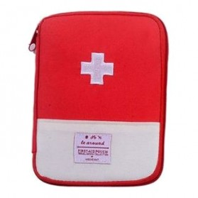 ZhangPei Tas Mini Obat P3K Portable First Aid Medical Kit Bag Case Size S - A308 - Red