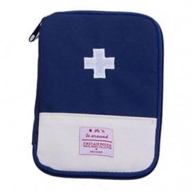 ZhangPei Tas Mini Obat P3K Portable First Aid Medical Kit Bag Case Size L - A308 - Blue