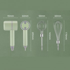 LISM Hand Mixer Portable Wireless USB Rechargeable - EB01 - Green - 10