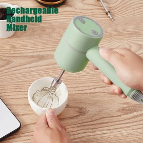 LISM Hand Mixer Portable Wireless USB Rechargeable - EB01 - Green - 4