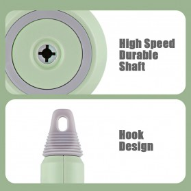LISM Hand Mixer Portable Wireless USB Rechargeable - EB01 - Green - 6