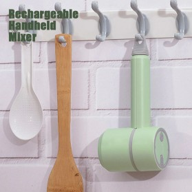 LISM Hand Mixer Portable Wireless USB Rechargeable - EB01 - Green - 9