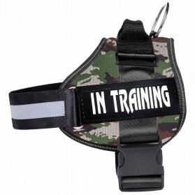 LISM Pakaian Rompi Anjing Reflective Breathable Vests Rope Chest Straps Size M - AS2068 - Black