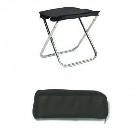 Kursi - Harako Kursi Lipat Memancing Portable Collapsible Folding Chair Low Design - HK010 - Black