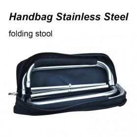 Harako Kursi Lipat Memancing Portable Collapsible Folding Chair Low Design - HK010 - Black - 2