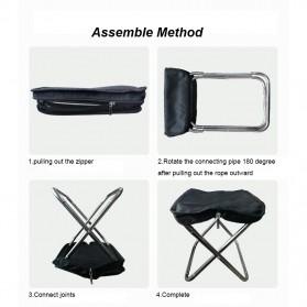 Harako Kursi Lipat Memancing Portable Collapsible Folding Chair Low Design - HK010 - Black - 5