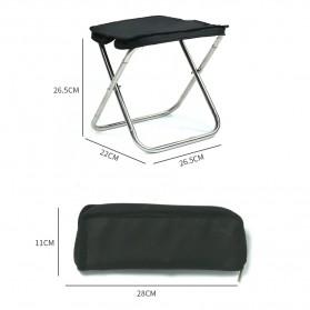 Harako Kursi Lipat Memancing Portable Collapsible Folding Chair Low Design - HK010 - Black - 9