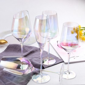 LOULONG Gelas Cangkir Glass Crystal Champagne Wine Rainbow Goblet 180ml - XR1026 - Multi-Color - 2