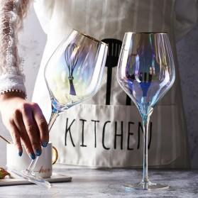 LOULONG Gelas Cangkir Glass Crystal Champagne Wine Rainbow Goblet 180ml - XR1026 - Multi-Color - 6