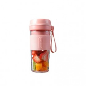 Blender Buah Mini Portable Juicer Cup USB Rechargeable 300ml - FS1300 - Pink