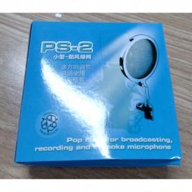 NoIcee Pop Filter Mikrofon Shield Dual Layer Rotatable 3 Inch - PS-2 - Black - 7