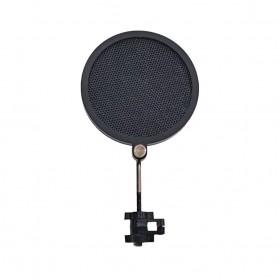 NoIcee Pop Filter Mikrofon Shield Dual Layer Rotatable 3 Inch - PS-2 - Black - 2