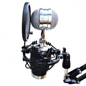 NoIcee Pop Filter Mikrofon Shield Dual Layer Rotatable 3 Inch - PS-2 - Black - 6