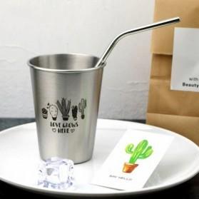 NTE Cangkir Mug Stainless Steel Model Love Grow 500ml - C8781 - Silver - 1